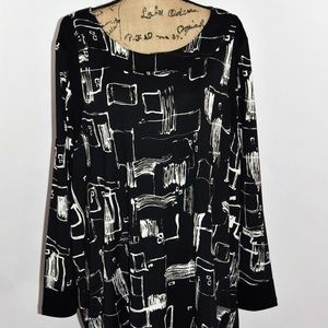 Ulla Popken Graphic Geo Print Dress Tunic 20/22